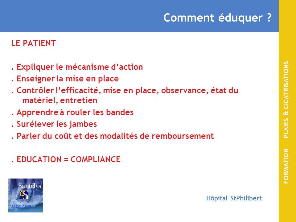 FORMATION PLAIES & CICATRISATIONS Hôpital StPhilibert