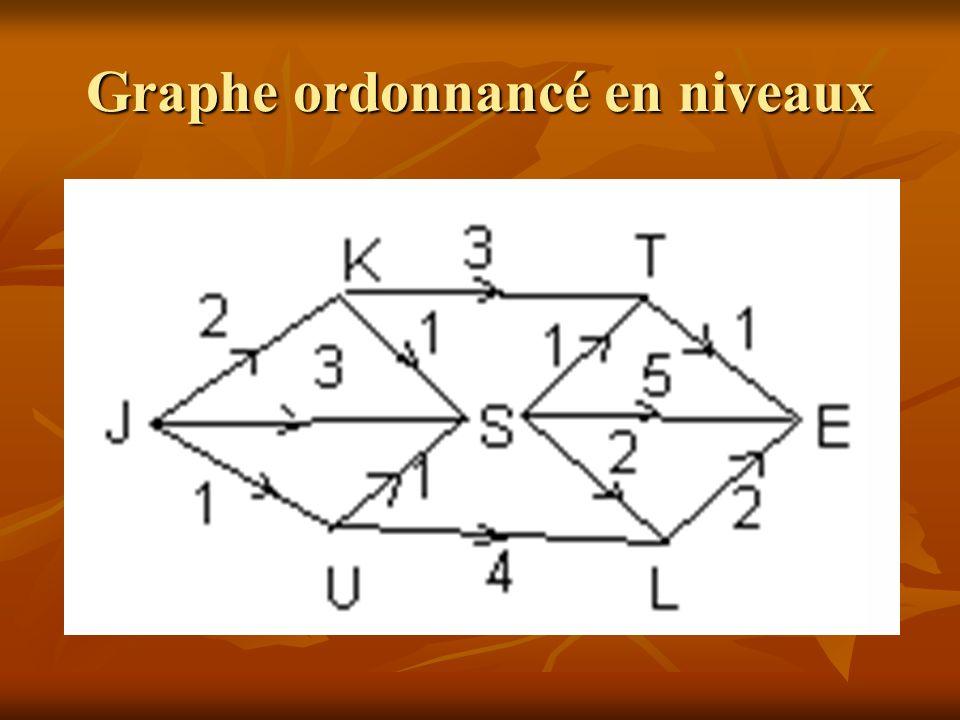 Graphe ordonnancé en niveaux
