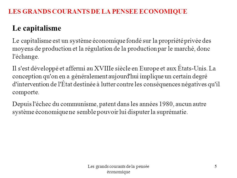 Les grands courants de la pensée économique 76 LES GRANDS COURANTS DE LA PENSEE ECONOMIQUE Léconomie selon Keynes Pour Keynes, le marché nest pas le régulateur de la vie économique.