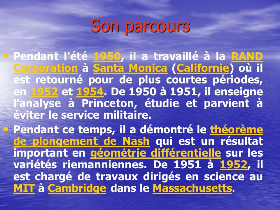 Son parcours Pendant l été 1950, il a travaillé à la RAND Corporation à Santa Monica (Californie) où il est retourné pour de plus courtes périodes, en 1952 et 1954.