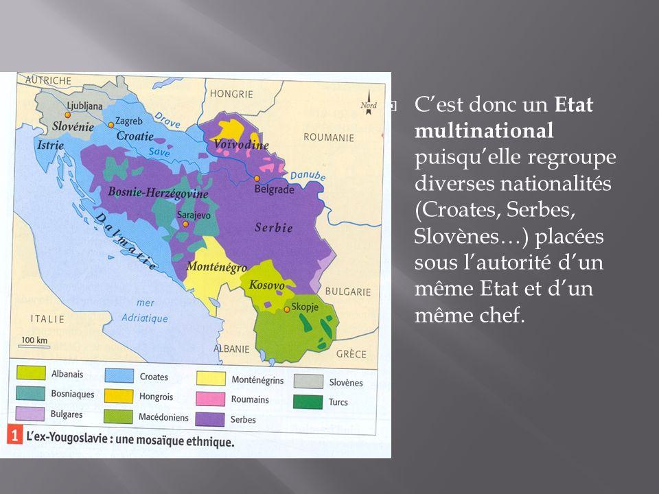 De plus ces nationalités ont des religions différentes liées à leur histoire : - les Slovènes et les Croates (qui ont fait partie de lEmpire Austro-hongrois) sont des catholiques - les Serbes, les Monténégrins et les Macédoniens sont des orthodoxes - les Bosniaques (qui ont subit linfluence de lEmpire Ottoman) sont des musulmans