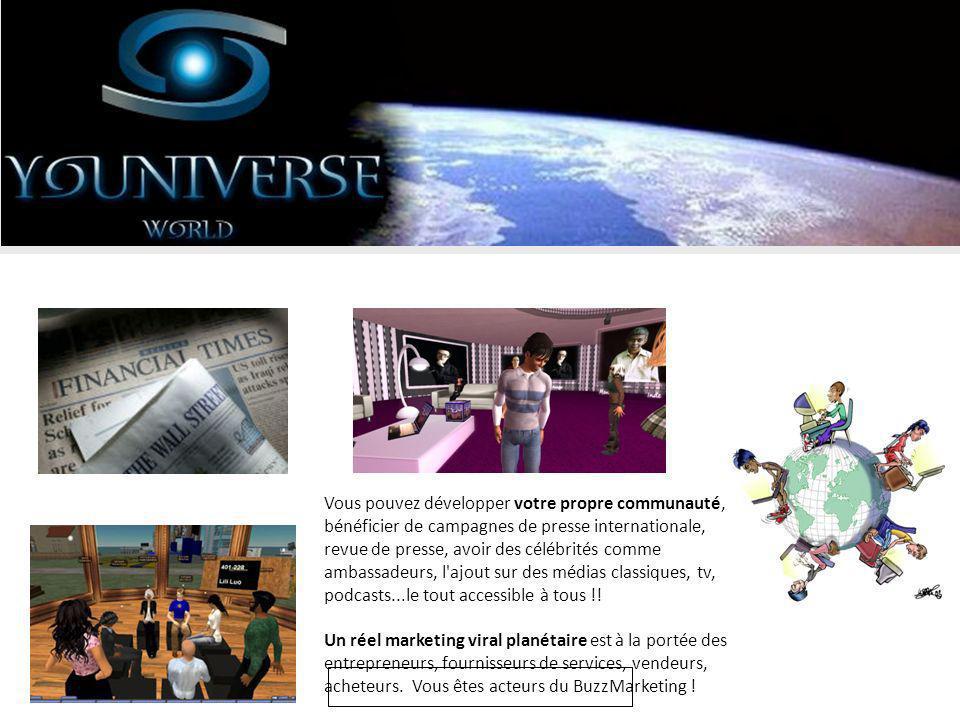 19/08/2009 Vous pouvez développer votre propre communauté, bénéficier de campagnes de presse internationale, revue de presse, avoir des célébrités comme ambassadeurs, l ajout sur des médias classiques, tv, podcasts...le tout accessible à tous !.
