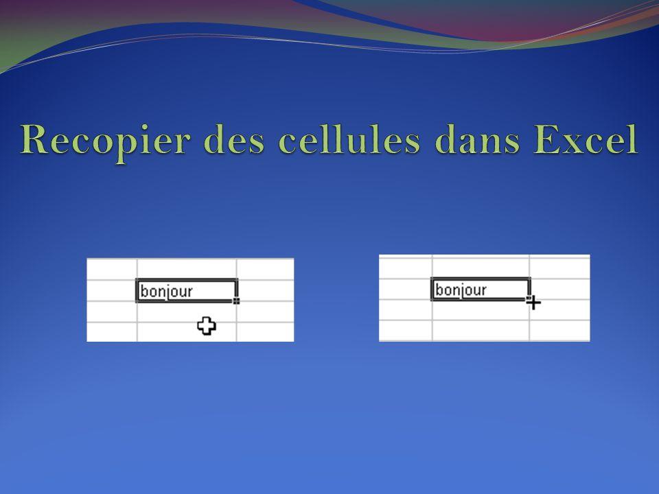 En plus de l utilisation des menus Edition-Copier et Edition-Coller , il existe d autres méthodes pour recopier.