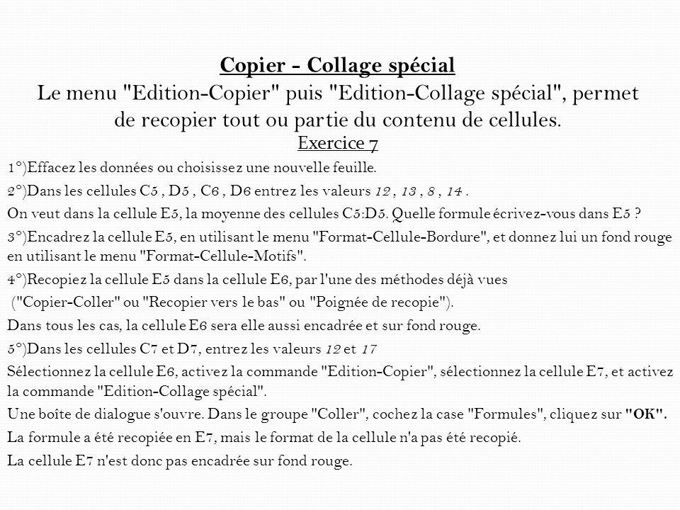 Copier - Collage spécial Le menu