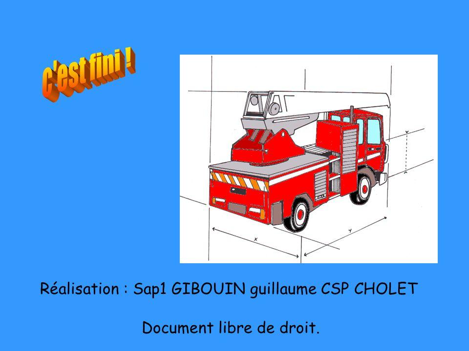 Réalisation : Sap1 GIBOUIN guillaume CSP CHOLET Document libre de droit.