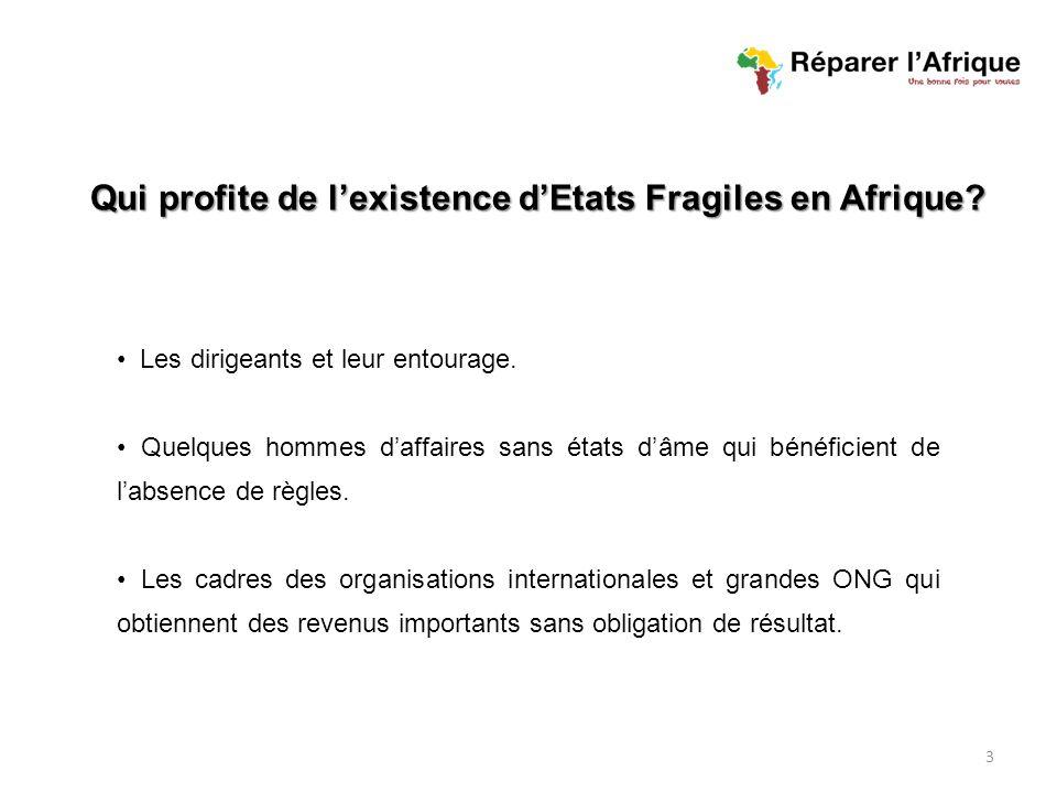 Qui profite de lexistence dEtats Fragiles en Afrique.