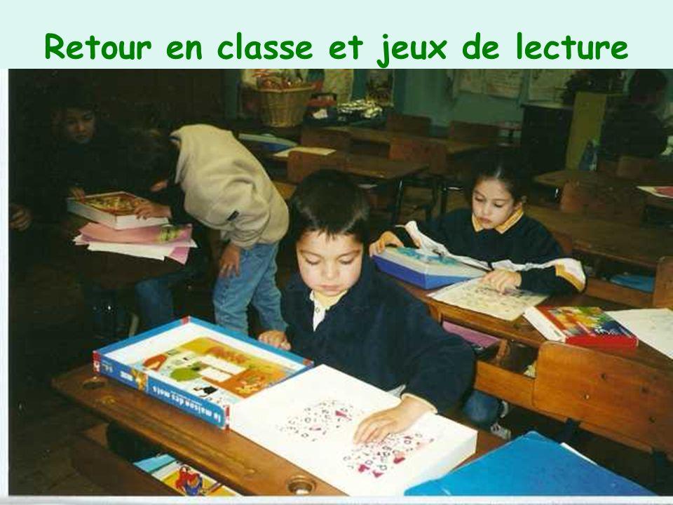 Retour en classe et jeux de lecture