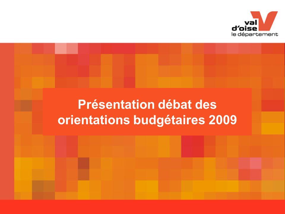 Présentation débat des orientations budgétaires 2009