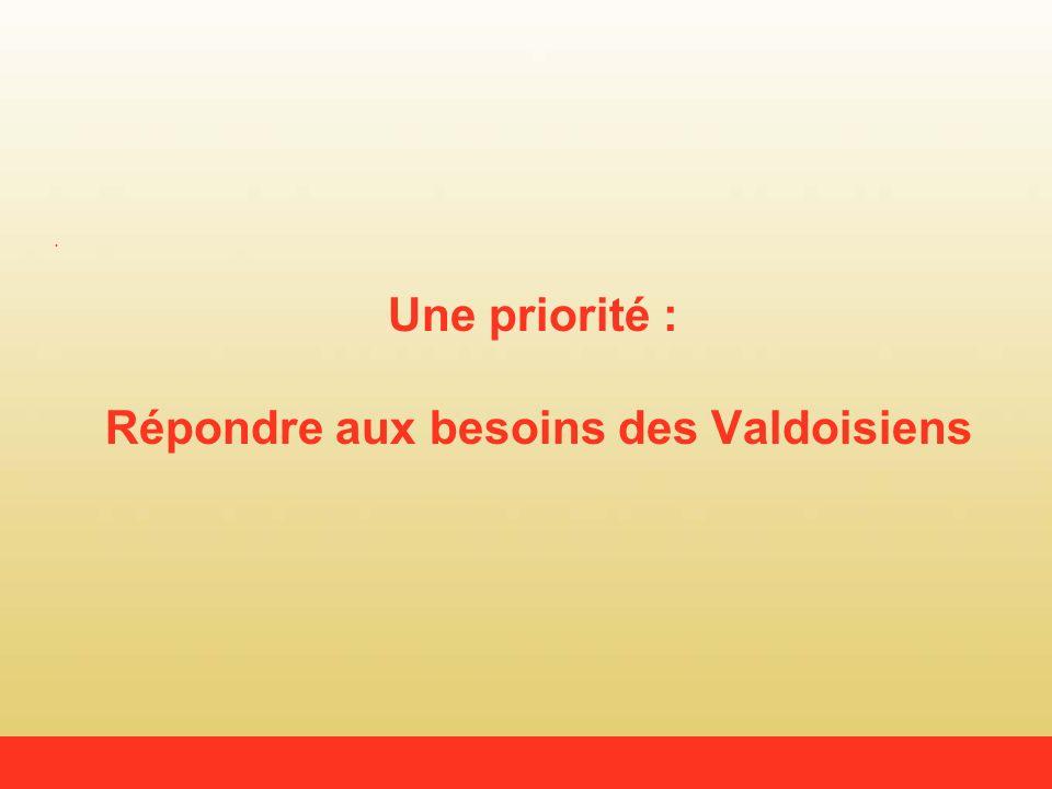 Une priorité : Répondre aux besoins des Valdoisiens