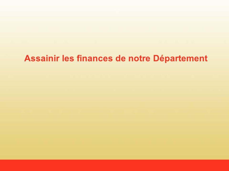 Assainir les finances de notre Département