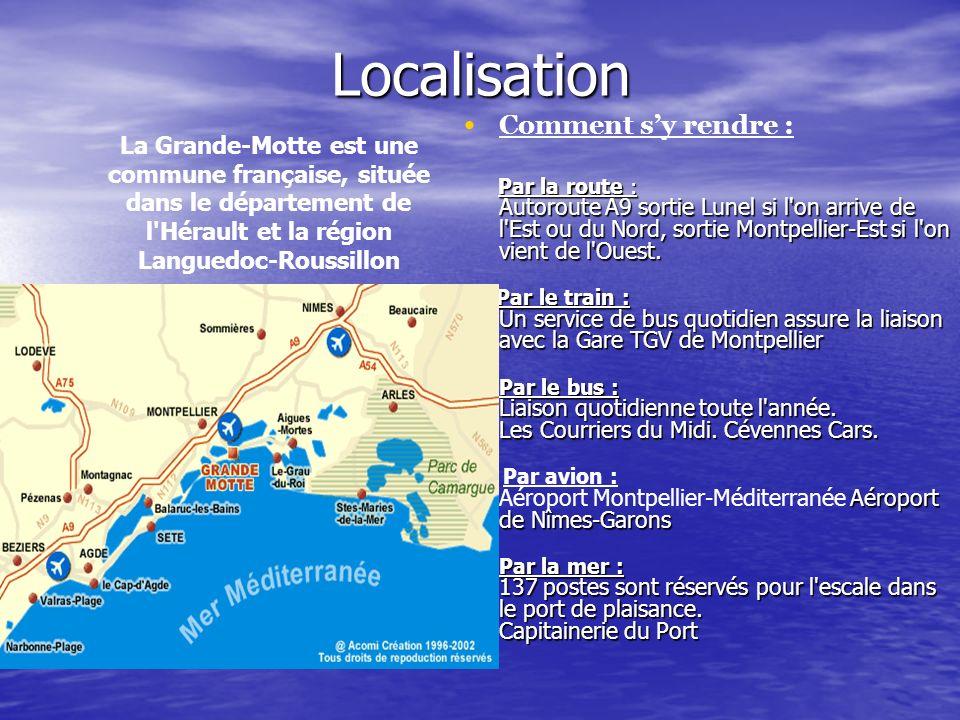 Localisation Comment sy rendre : Par la route : Autoroute A9 sortie Lunel si l'on arrive de l'Est ou du Nord, sortie Montpellier-Est si l'on vient de