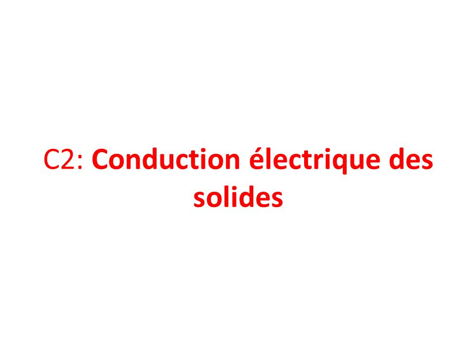 I) Tous les solides conduisent-ils le courant électrique ? Observez le document ci-contre :