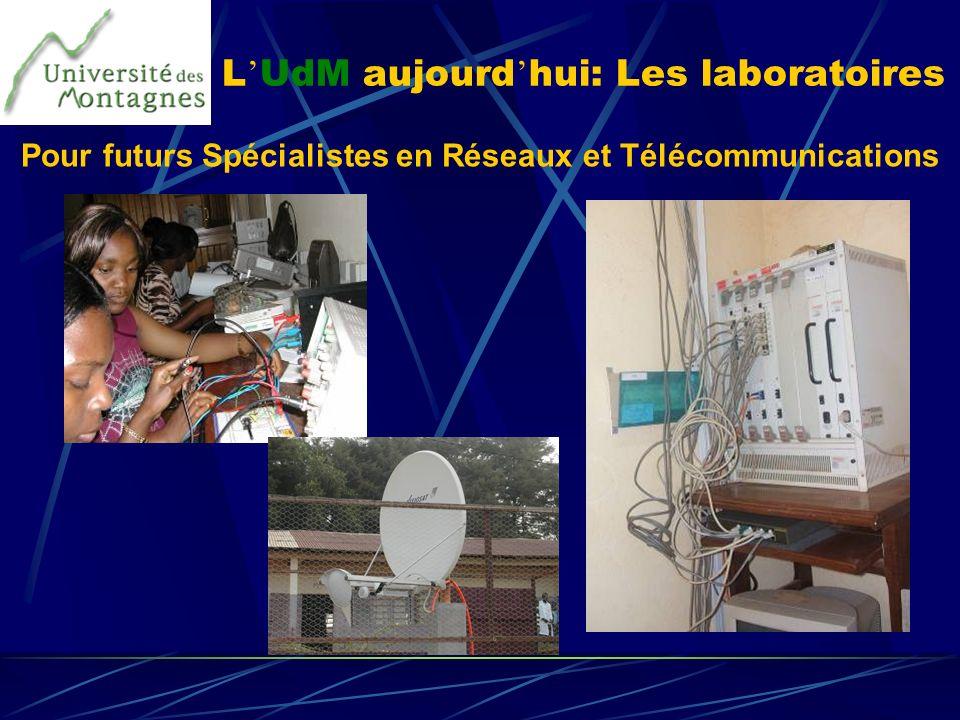 L UdM aujourd hui: Les laboratoires Pour futurs Spécialistes en Réseaux et Télécommunications