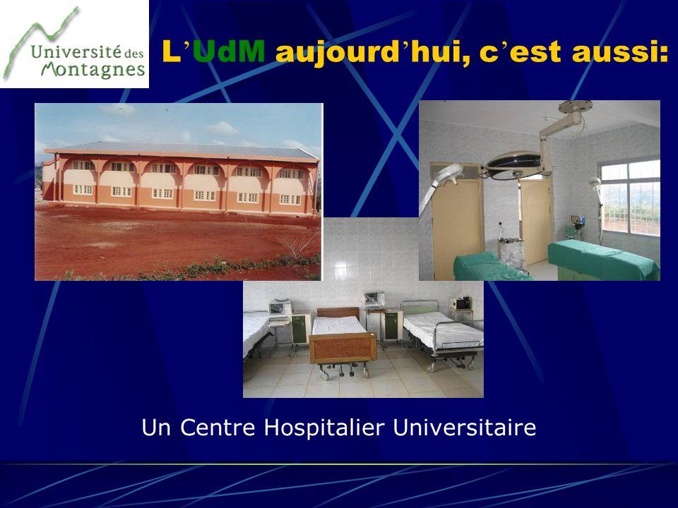 L UdM aujourd hui, c est aussi: Un Centre Hospitalier Universitaire