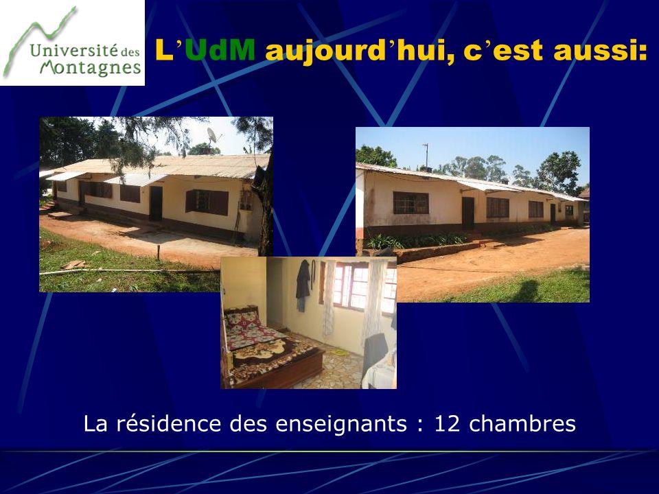L UdM aujourd hui, c est aussi: La résidence des enseignants : 12 chambres