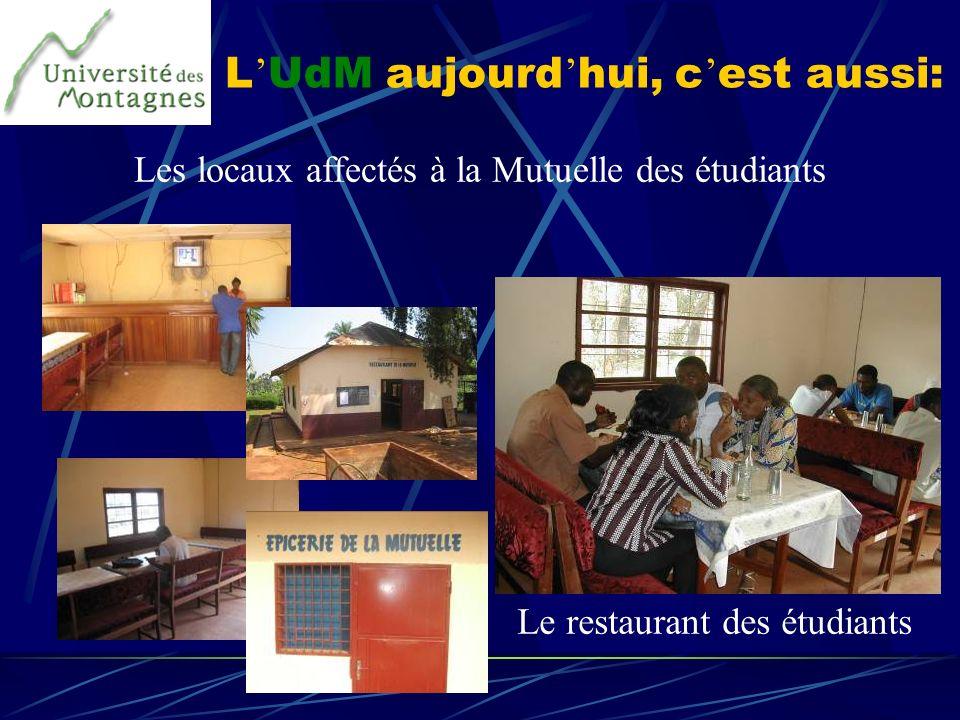L UdM aujourd hui, c est aussi: Les locaux affectés à la Mutuelle des étudiants Le restaurant des étudiants