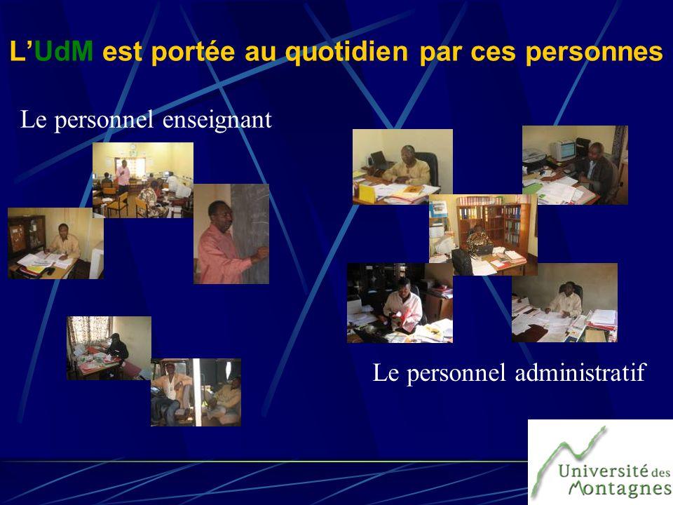 Le personnel administratif Le personnel enseignant LUdM est portée au quotidien par ces personnes