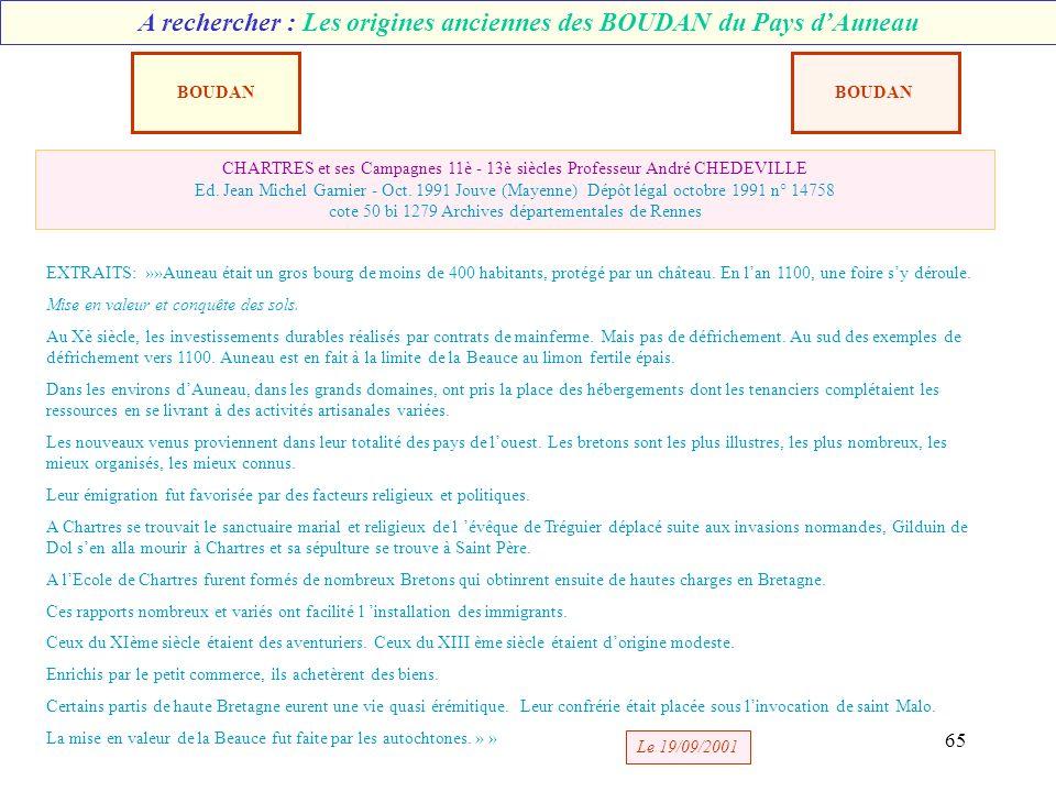 64 BOUDAN Adrien Sulpice n é 03/04/1809 +04/05/1876 cultivateur vigneron MASSE Marie Anne née 13/04/1808 AUNEAU Les Boudan dAUNEAU -3- Selon éléments