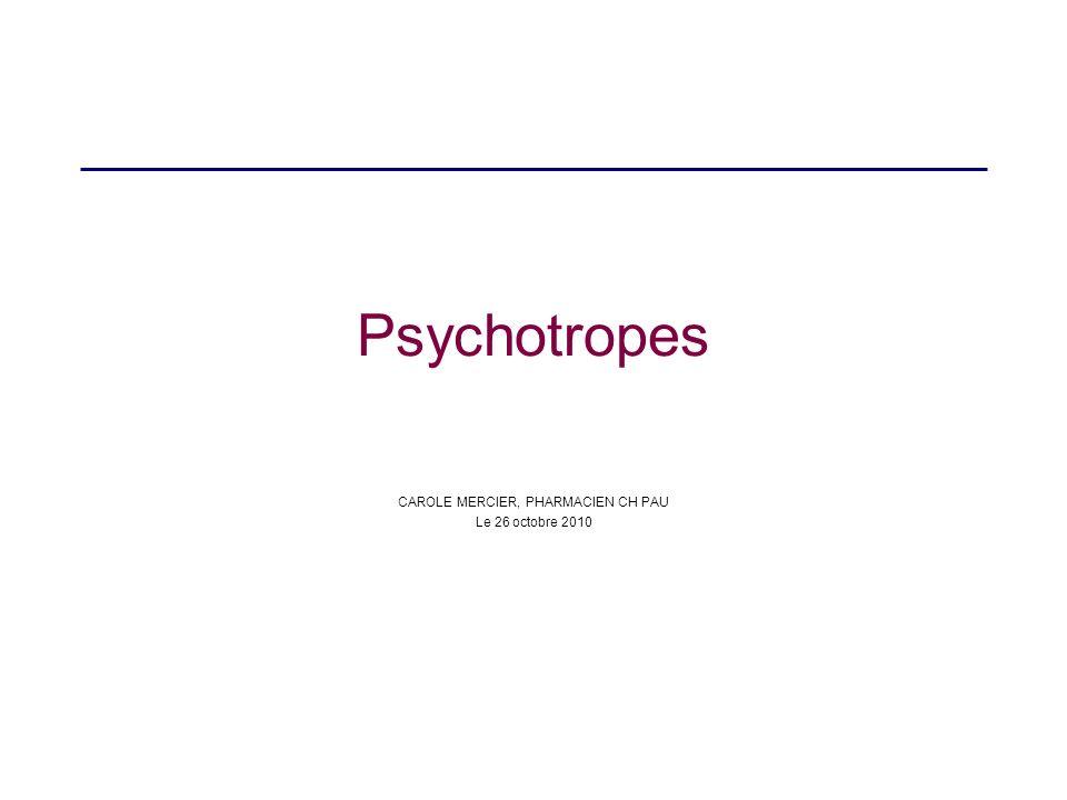 Antipsychotiques atypiques antagonisent les récepteurs 5HT2a, sérotoninergiques moindres effets extrapyramidaux, moins deffets endocriniens MAIS prise de poids, syndrome métabolique : hyperglycémie, hyperlipidémie Ex ZYPREXA®