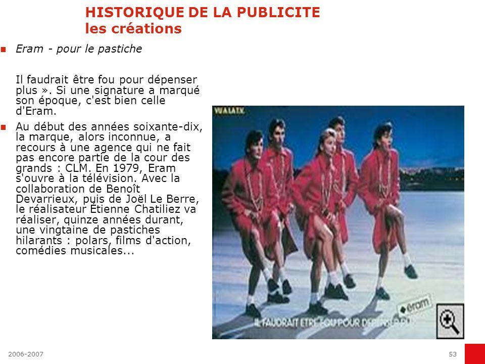 2006-200752 HISTORIQUE DE LA PUBLICITE les créations Kookaï - pour la perversité