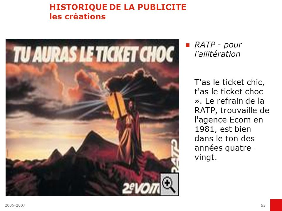 2006-200754 HISTORIQUE DE LA PUBLICITE les créations Kodak - pour l espièglerie Petits personnages espiègles en tenue rayée rouge et blanc, avec bonnet de bain noir, les Kodakettes ont envahi les écrans de télévision français en 1985.