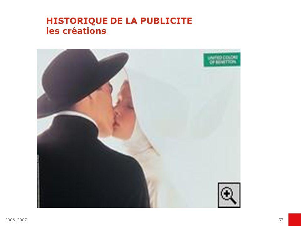 2006-200756 HISTORIQUE DE LA PUBLICITE les créations Perrier - pour le Grand Prix La belle, la bête et... la petite bouteille verte. Le cocktail conco