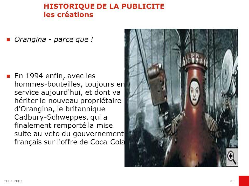2006-200759 HISTORIQUE DE LA PUBLICITE les créations Evian - pour la popularité heureux comme un enfant dans l eau.