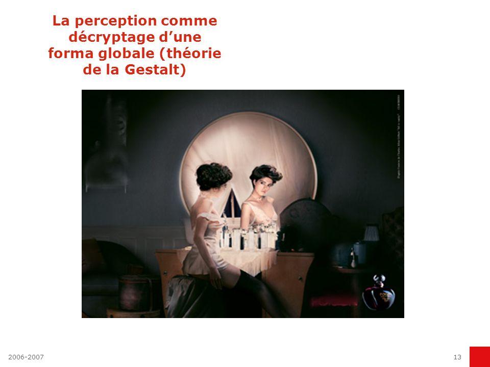 2006-200713 La perception comme décryptage dune forma globale (théorie de la Gestalt)