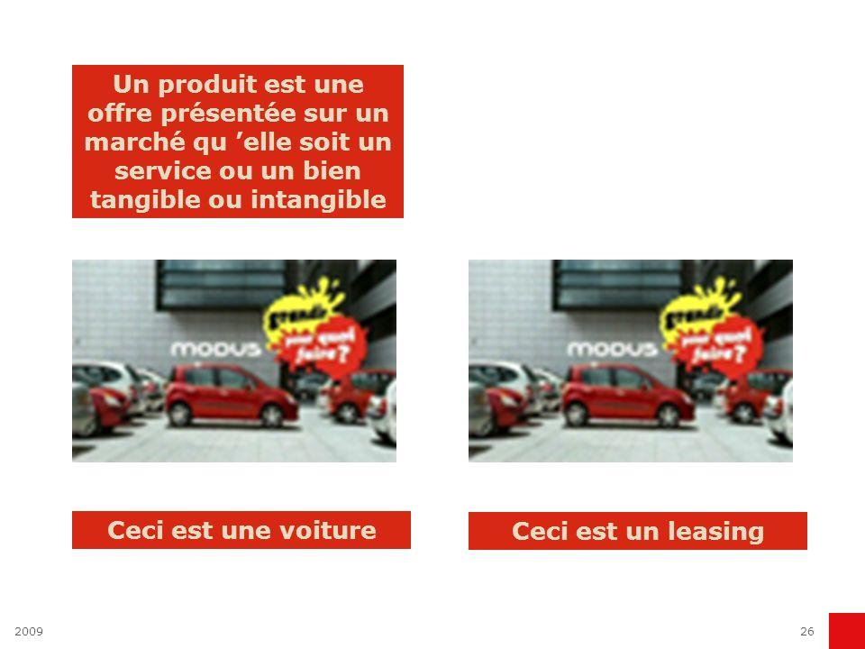 200926 Un produit est une offre présentée sur un marché qu elle soit un service ou un bien tangible ou intangible Ceci est une voiture Ceci est un lea