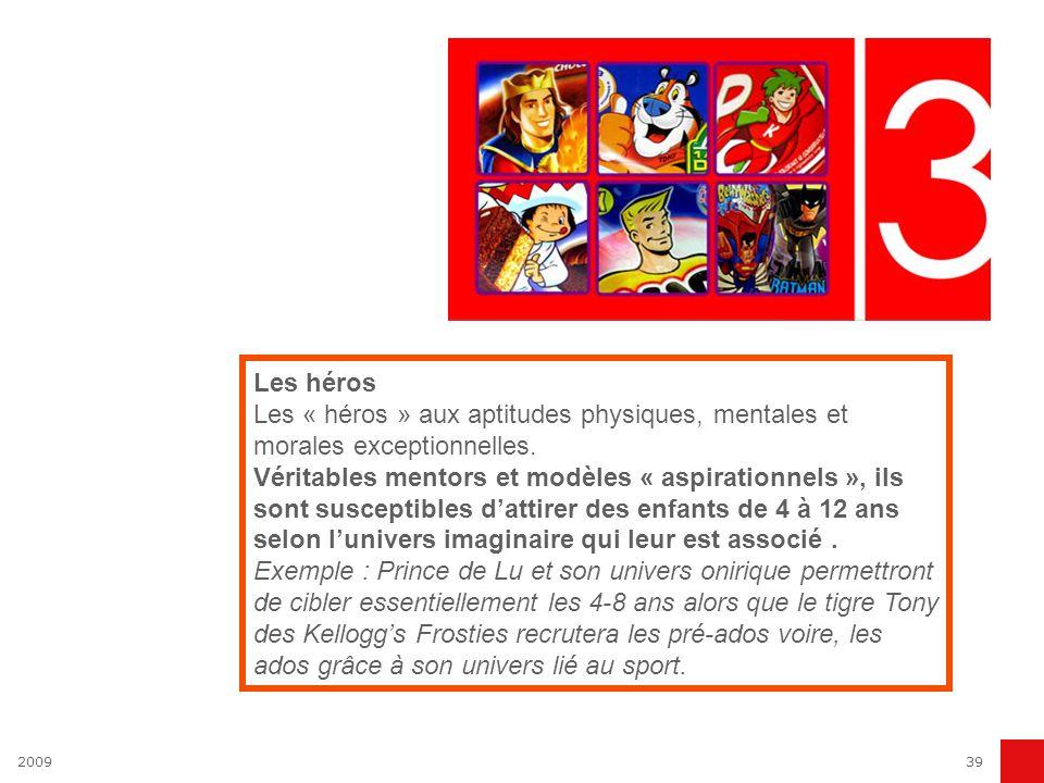 200939 Les héros Les « héros » aux aptitudes physiques, mentales et morales exceptionnelles. Véritables mentors et modèles « aspirationnels », ils son