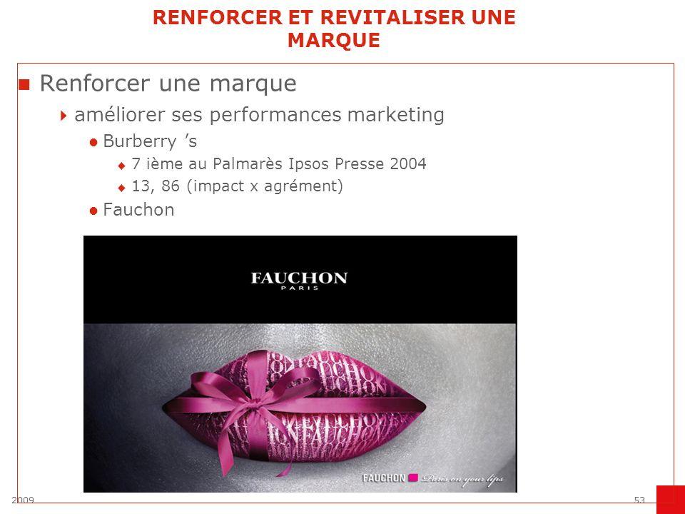 200953 RENFORCER ET REVITALISER UNE MARQUE Renforcer une marque améliorer ses performances marketing Burberry s 7 ième au Palmarès Ipsos Presse 2004 1
