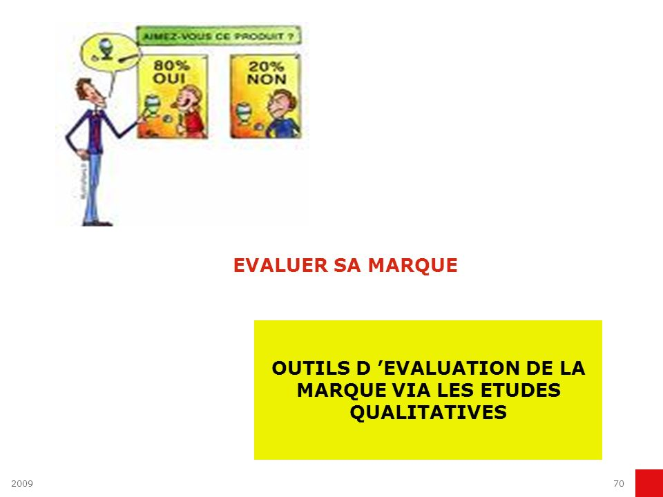 200970 EVALUER SA MARQUE OUTILS D EVALUATION DE LA MARQUE VIA LES ETUDES QUALITATIVES
