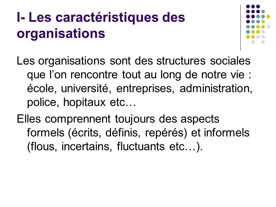 B -Caractéristiques de lorganigramme Il représente la structure globale de lorganisation, les fonctions de chacun, lautorité.