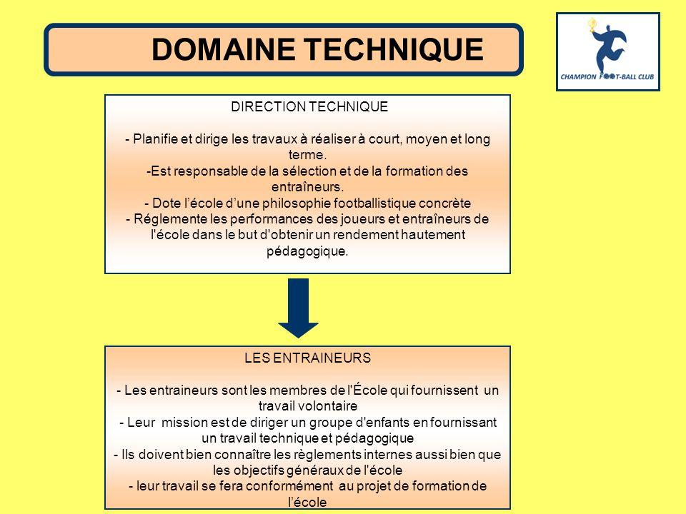 DIRECTION TECHNIQUE - Planifie et dirige les travaux à réaliser à court, moyen et long terme. -Est responsable de la sélection et de la formation des