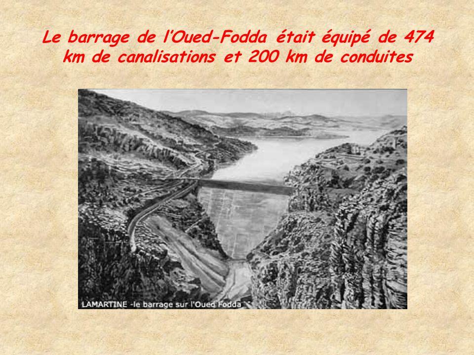 Aménagement et équipement du territoire Construction de douze grands barrages dés 1920, au total ils pouvaient contenir 800 millions de mètres cubes q