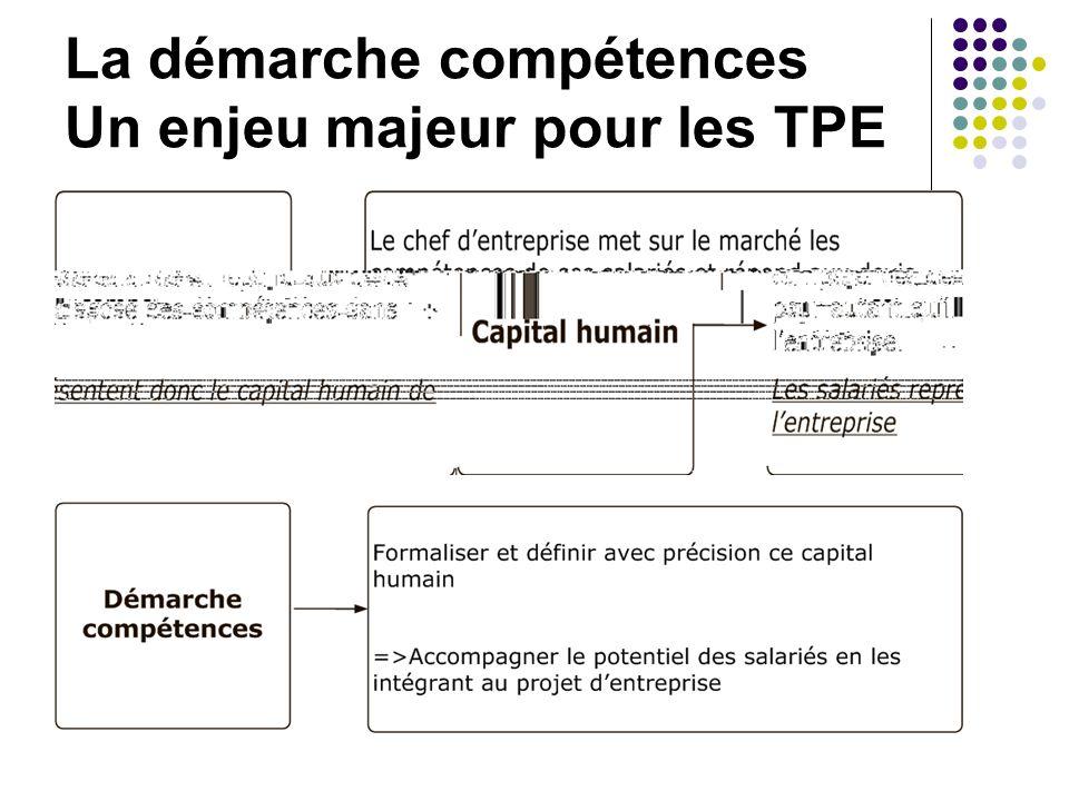 La démarche compétences Un enjeu majeur pour les TPE