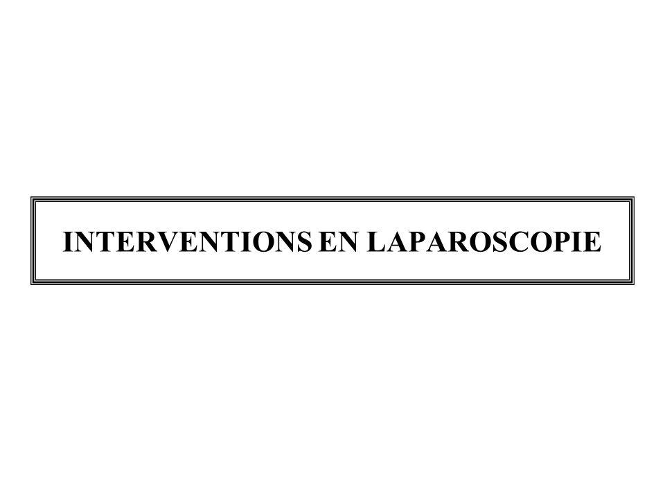 INTERVENTIONS EN LAPAROSCOPIE
