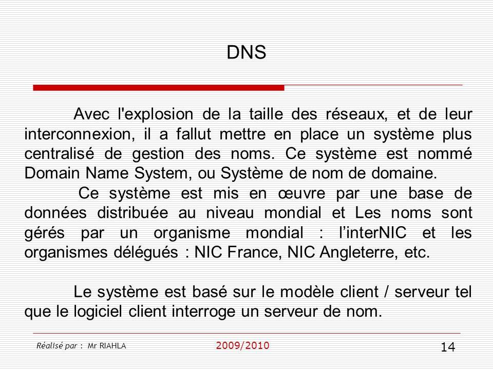2009/2010 Avec l'explosion de la taille des réseaux, et de leur interconnexion, il a fallut mettre en place un système plus centralisé de gestion des