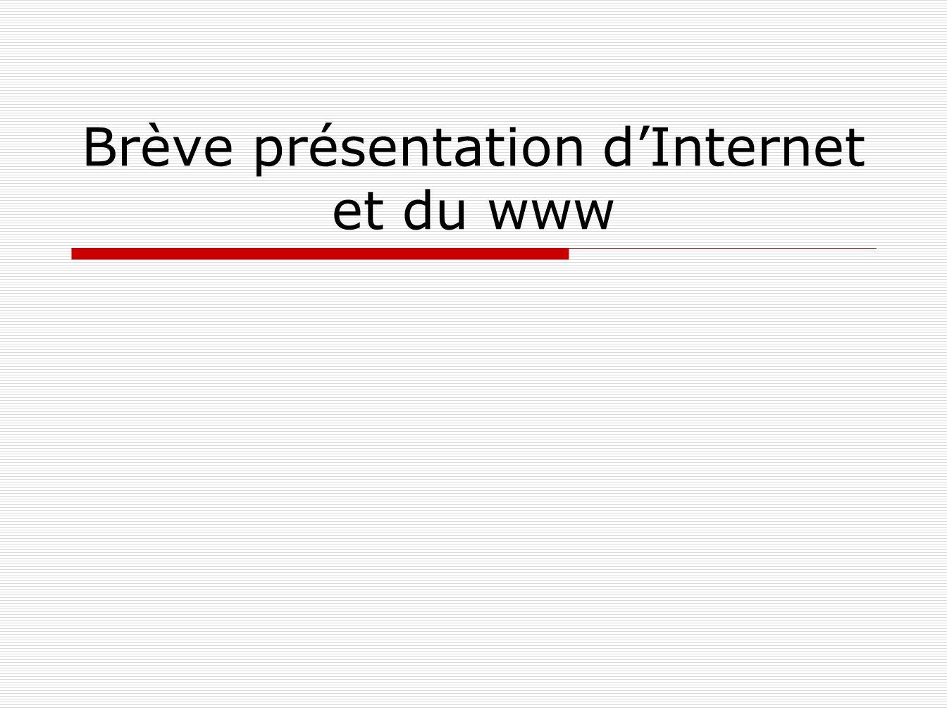 Brève présentation dInternet et du www