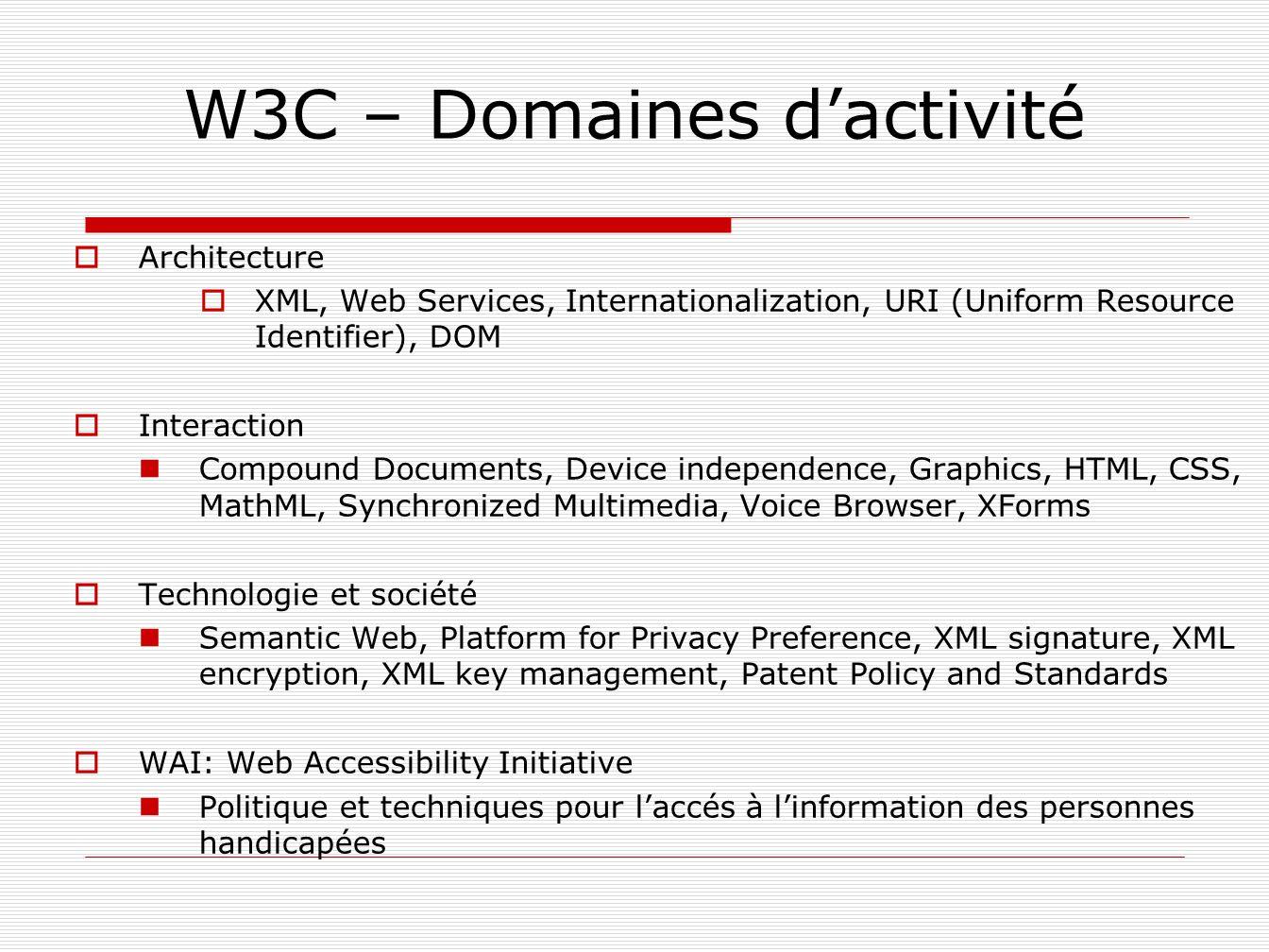 Un document HTML commence par un entête Il indique quelle version dHTML est utilisée (ici 4.01 transitional).