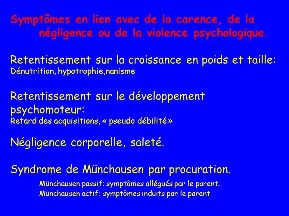 Syndrome de Münchausen par procuration.