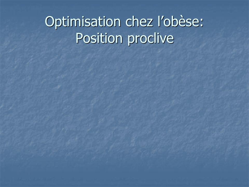 Optimisation chez lobèse: Position proclive