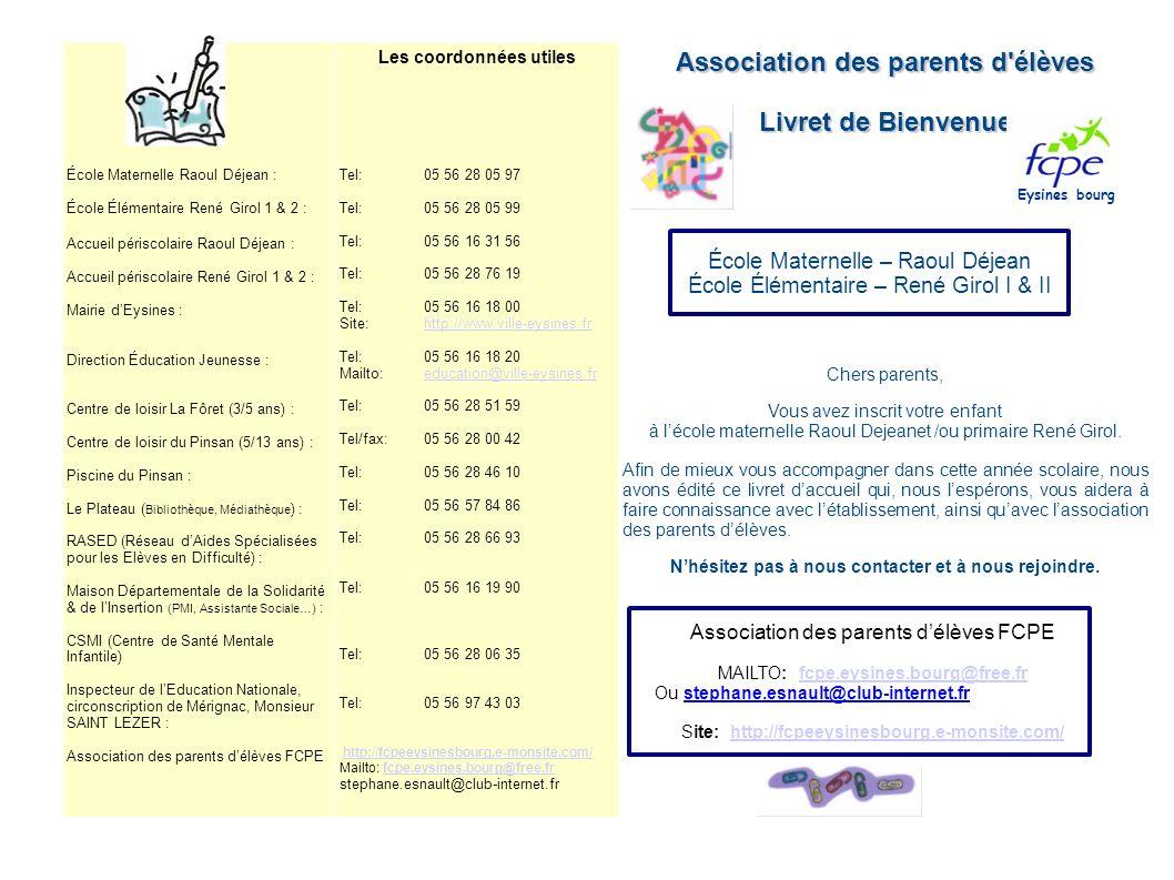 École Maternelle Raoul Déjean : École Élémentaire René Girol 1 & 2 : Accueil périscolaire Raoul Déjean : Accueil périscolaire René Girol 1 & 2 : Mairi