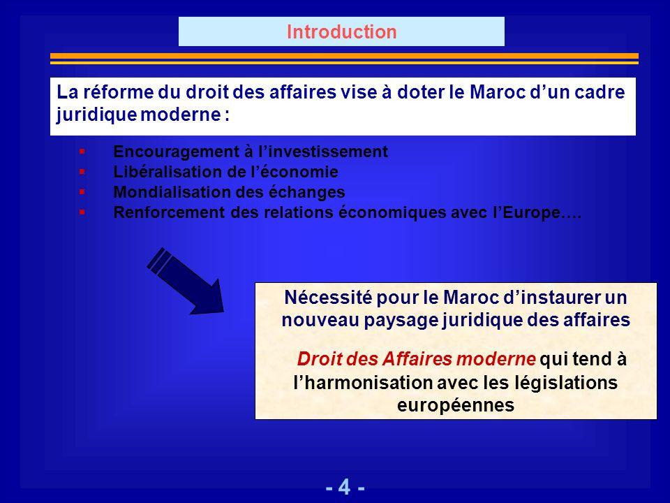 - 4 - Encouragement à linvestissement Libéralisation de léconomie Mondialisation des échanges Renforcement des relations économiques avec lEurope…. Né