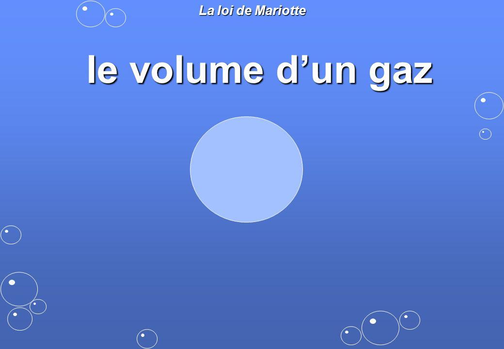La loi de Mariotte le volume dun gaz