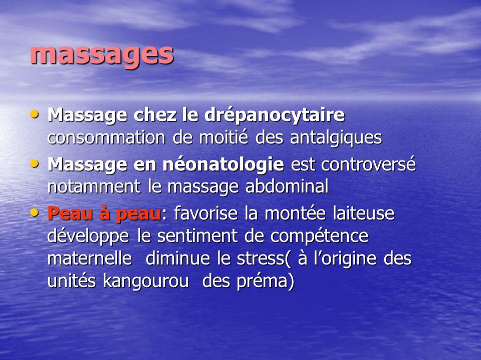 massages Massage chez le drépanocytaire consommation de moitié des antalgiques Massage chez le drépanocytaire consommation de moitié des antalgiques M