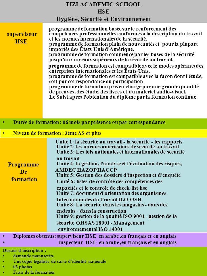 programme de formation basée sur le renforcement des compétences professionnelles conformes à la description du travail et les normes internationales