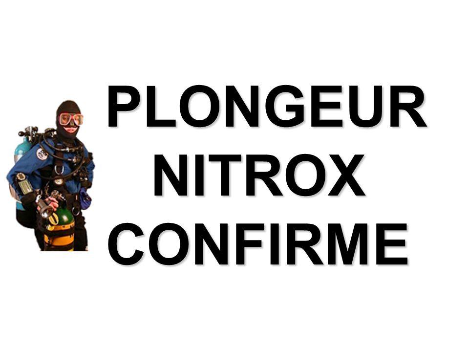 PLONGEUR NITROX CONFIRME PLONGEUR NITROX CONFIRME