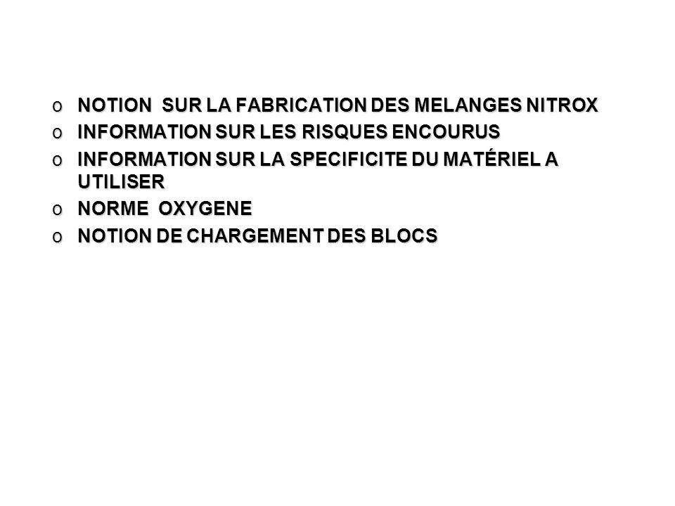 Moniteur nitrox confirme ffessm CONDITIONS DE CANDIDATURE ETRE TITULAIRE DE LA LICENCE EN COURS DE VALIDITEETRE TITULAIRE DE LA LICENCE EN COURS DE VALIDITE AVOIR AU MOINS 18 ANSAVOIR AU MOINS 18 ANS ETRE TITULAIRE DU MF1 ffessm OU BEES1ETRE TITULAIRE DU MF1 ffessm OU BEES1 AVOIR UN CERTIFICAT MEDICAL(idem plongeur nitrox)AVOIR UN CERTIFICAT MEDICAL(idem plongeur nitrox) ORGANISATION GENERALE LA QUALIFICATION NEST PAS OBTENUE A PARTIR DUN EXAMEN PONCTUELLA QUALIFICATION NEST PAS OBTENUE A PARTIR DUN EXAMEN PONCTUEL LES TITULAIRES DE LA QUALIFICATION NITROX CONFIME ET DU BREVET DE MONITEUR (MF1 BEES1 MINIMUN) SONT DE FAIT MONITEUR NITROX CONFIRME.LES TITULAIRES DE LA QUALIFICATION NITROX CONFIME ET DU BREVET DE MONITEUR (MF1 BEES1 MINIMUN) SONT DE FAIT MONITEUR NITROX CONFIRME.