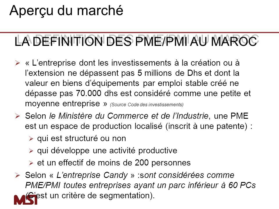 Pour calculer la demande potentielle de façon précise dans le marché des PMI on aura besoin des informations supplémentaires suivantes : Le nombre de nouvelles PMI créées.